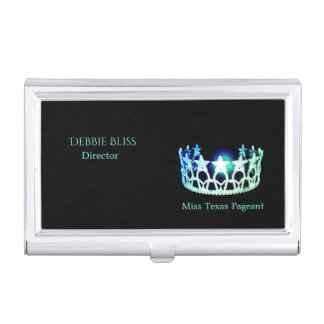 Miss USA Mint Crown Business Card Holder