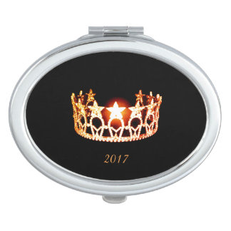 Miss USA Orange Crown Compact Mirror w/Date