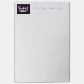 Miss USA Orchid Pink Crown Post-it-Notes Post-it Notes