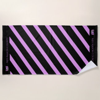 Miss USA Orchid Stripe Crown Beach Towel