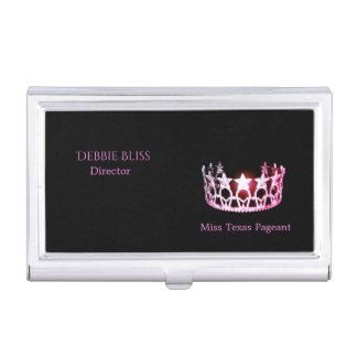 Miss USA Pink Crown Business Card Holder