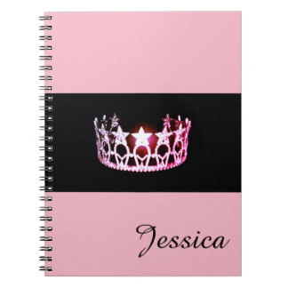 Miss USA Pink Crown Notebook- Custom Name Notebook