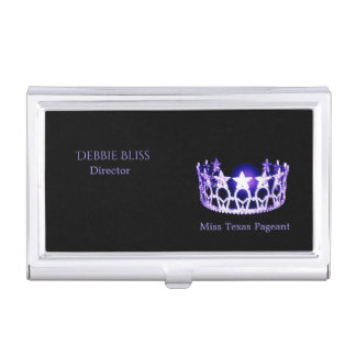 Miss USA Purple Crown Business Card Holder