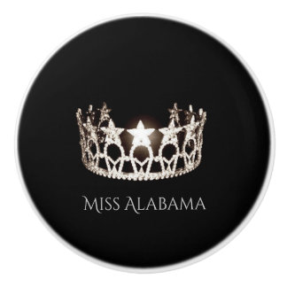 Miss USA Silver Crown Ceramic Cabinet Knob