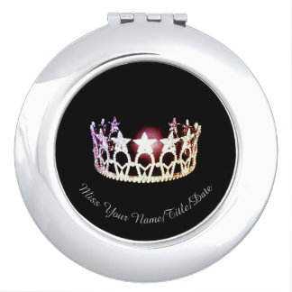 Miss USA Silver Crown Compact Mirror