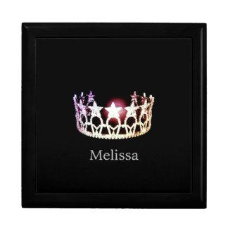 Miss USA Silver Crown Custom Name Jewelry Box