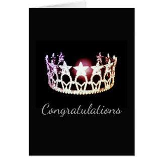 Miss USA Silver Crown Greeting Card-Congrats Card