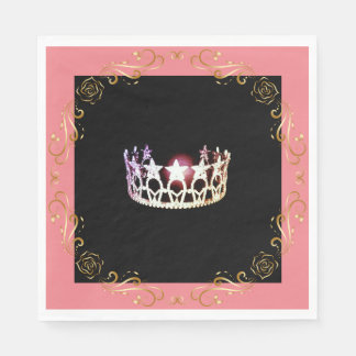 Miss USA Silver Crown Luncheon Paper Napkin