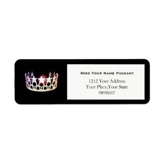 Miss USA Silver Crown Return Address Labels