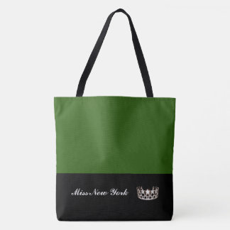 Miss USA Silver Crown Tote Bag-Large Emerald