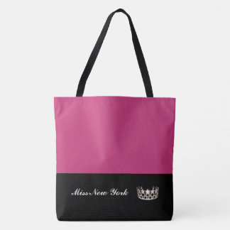 Miss USA Silver Crown Tote Bag-Large Fuchsia