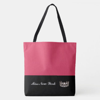 Miss USA Silver Crown Tote Bag-Large Geranium