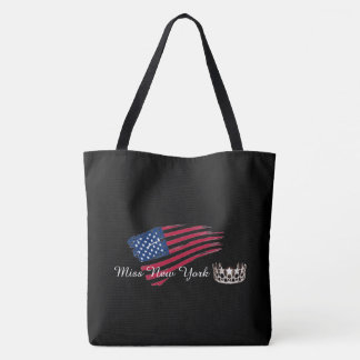 Miss USA Silver Crown Tote Bag-Large US Flag