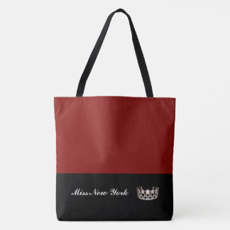 Miss USA Silver Crown Tote Bag-LRGE Chili
