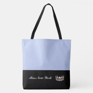 Miss USA Silver Crown Tote Bag-LRGE Frost