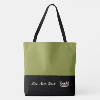 Miss USA Silver Crown Tote Bag-LRGE Olive