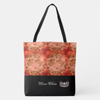 Miss USA Silver Crown Tote Bag LRGE Orange Camo