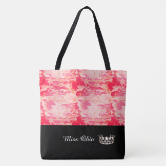 Miss USA Silver Crown Tote Bag LRGE Red Camo