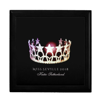 Miss USA SLVR Crown Personal Name Jewerly Box