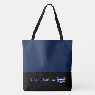 Miss USA State Royal Blue Crown Tote Bag- Navy