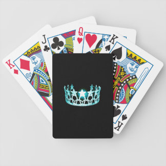 Miss USA style Aqua Crown Custom Playing Cards