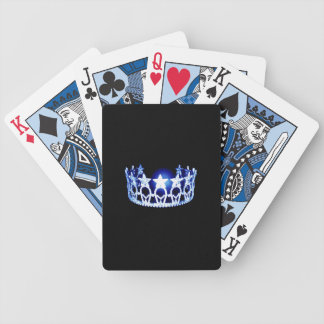 Miss USA style Blue Crown Custom Playing Cards