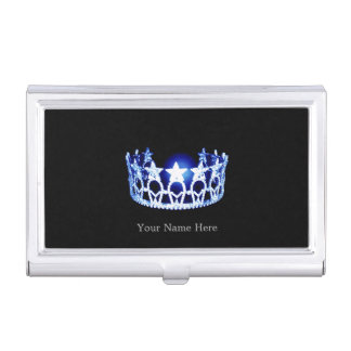 Miss USA style Crown Business Card Case