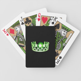 Miss USA style Green Crown Custom Playing Cards
