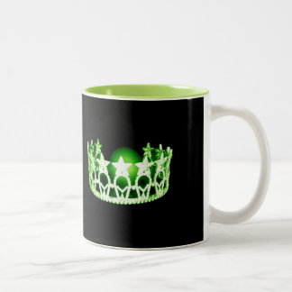 Miss USA style Green Pageant Crown  Mug