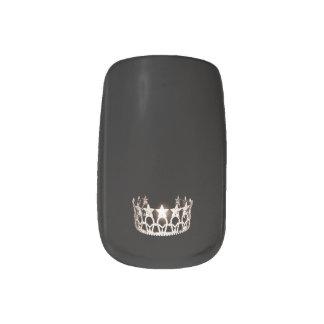 Miss USA style Minx Nails Silver Crown Minx Nail Art