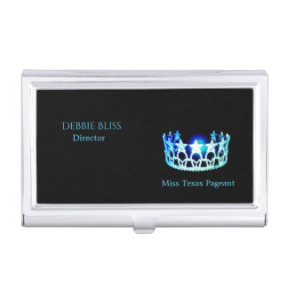 Miss USA Turquoise Crown Business Card Holder