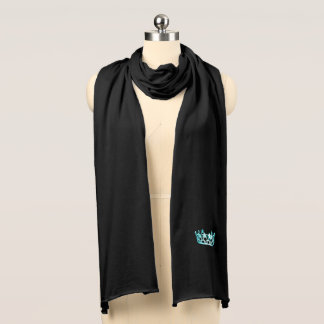 Miss USA Unisex Aqua Crown Knit Scarf