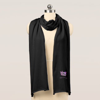 Miss USA Unisex Orchid Crown Knit Scarf