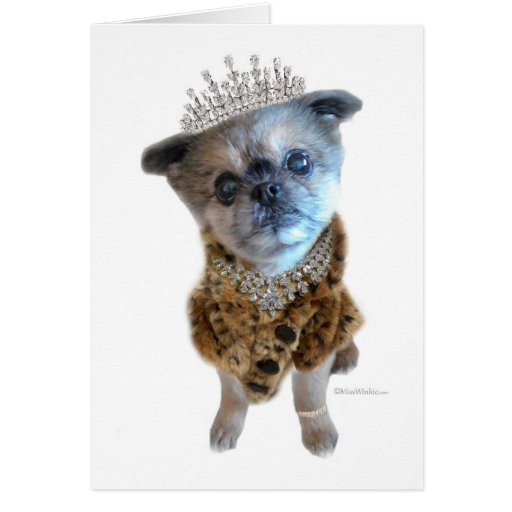 Miss Winkie, Queen, You Are Missed Greeting Card