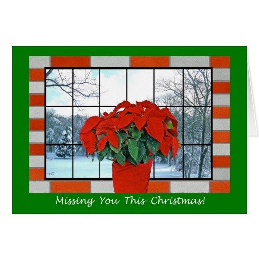 Miss You At Christmas Greeting Card