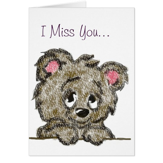 Miss You Bear Cub Card