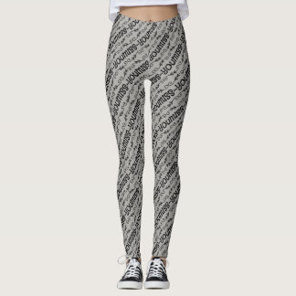 Miss You-Black & Grey Leggings
