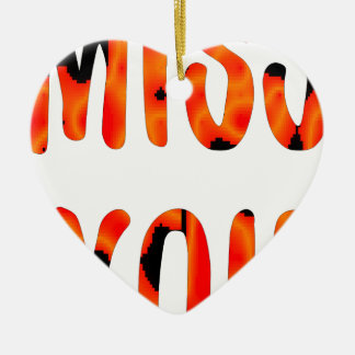 Miss you ceramic ornament