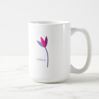miss you flower coffee mug