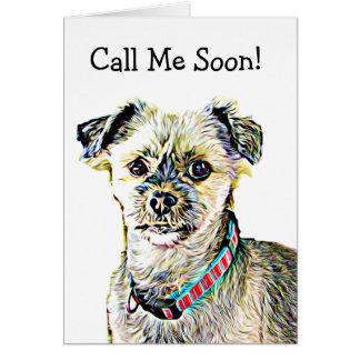 Miss You, Funny Shitzu Dog Card