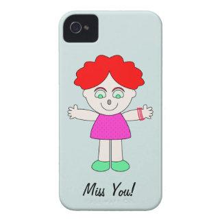 """Miss You"" Iphone Case iPhone 4 Case-Mate Case"