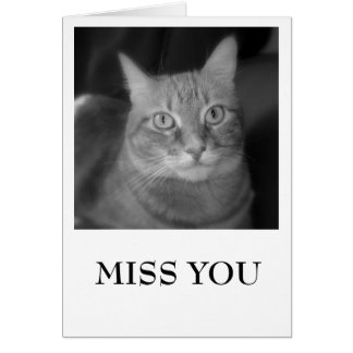 MISS YOU, LUCY WITH A TEARDROP GREETING CARD