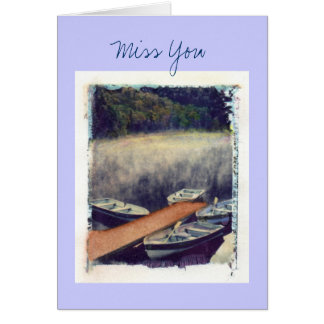 Miss You Note Card