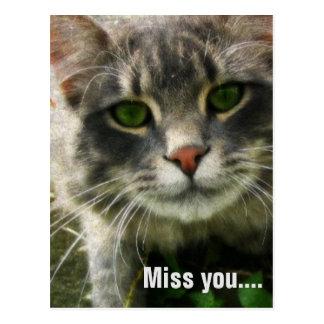 Miss you postcard