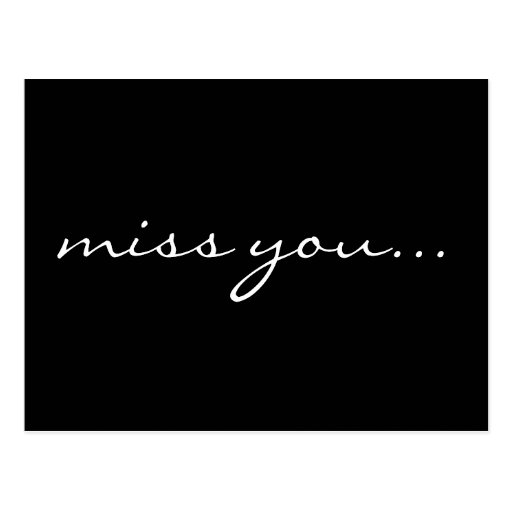 miss you... post card