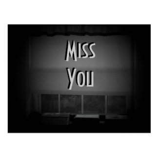 Miss You ~ Shades of Noir Postcard