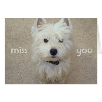 Miss You Stationery Note Card