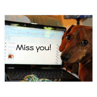 Miss You Toby Postcard