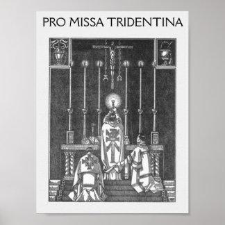 missa solemnis, PRO MISSA TRIDENTINA Poster