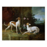 Misse and Turlu, two greyhounds of Louis XV Poster